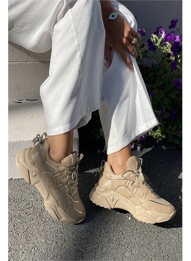 İnan Ayakkabı BAYAN SNEAKERS SPOR Ten